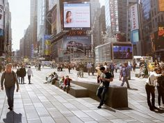 These are supercharged planes of granite.  NYC Times Square  Claire Fellman, lead project mgr