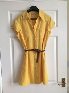 Linen Shirt Dress, Plaits, Mother Of Pearl Buttons, Size 12, Im Not Perfect, Summer Dresses, Yellow, Shirts