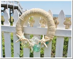 Summer Wreath via @sandandsisal