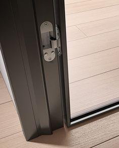 Porta scorrevole in alluminio e vetro G-LIKE | Porta scorrevole - GIDEA