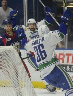 Difference in the details as Comets edge Griffins: Nicklas Jensen got the Utica Comets going with a goal in the opening seconds, Brandon DeFazio added another, and Jacob Markstrom stopped 25 of 26 shots as the Utica Comets defeated the Grand Rapids Griffins 2-1 in Game 1 of their AHL Western Conference championship series Sunday, May 24, 2015. http://www.uticaod.com/article/20150524/SPORTS/150529637