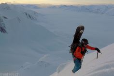 getting up there for the midnight run  #svalbard2015