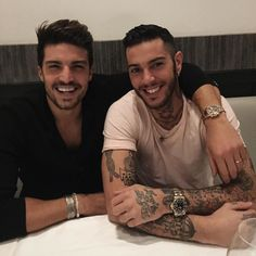 #MarianoDiVaio Mariano Di Vaio: Dinner at #Giannino with the bro @emis_killa ⚡️ such a fun night ..