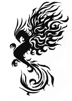 ImageFind images and videos about phoenix tattoo on We Heart It - the app to get lost in what you love. Laser Art, Black Silhouette, Kirigami, Tribal Tattoos, Tattoos For Guys, Phoenix, Celtic, We Heart It, Graphic Art