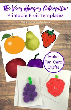 Printable Hungry Caterpillar Fruit Cards Craft