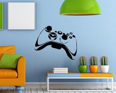 Wall Vinyl Decal Sticker Art Design Joystick for Playing Playstation Game Room Nice Picture Decor Hall Wall Chu1257