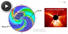 "If Earth had been hit by this in July 2012, ""we would still be picking up the pieces."" It wasn't an asteroid, but one of the most powerful solar storms in at least 150 years. Solar storms produce high energy radiation that damage electronics: if strong enough they can fry GPS satellites and cause widespread blackouts. Luckily, it didn't hit us, and hit a telescope studying the Sun instead (which got some great data). #nasa #space #sun"