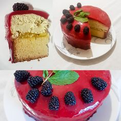 [homemade] Lemon pound cake base layer lemon curd filling green tea cheesecake top layer raspberry glaze. http://ift.tt/2nnW4gE