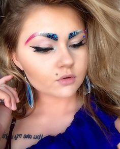 Brows | 10 Creative Ways To Be Sparkingly Beautiful With Glitter Makeup
