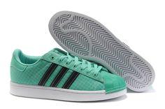 Adidas Superstar LTO Green Grid Black Trainers - geggjaður litur