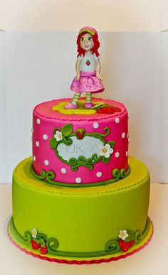 Strawberrie Shortcake cake - by laskova @ CakesDecor.com - cake decorating website