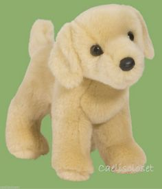 "Douglas Zach YELLOW LABRADOR 10"" Plush Lab Retriever Stuffed Dog Cuddle Toy NEW #DouglasCuddleToy"