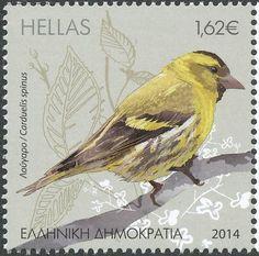 Eurasian Siskin stamps - mainly images - gallery format World Birds, Vintage Stamps, Stamp Making, Fauna, Stamp Collecting, Wild Creatures, Bird Art, Pet Birds, Greece
