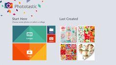 App Phototastic per windows 8.1, per creare collage da foto e immagini