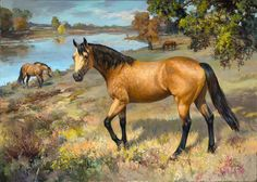 Buckskin Beauty :: Woodsong Institute of Art :: Horse Painting - Marilyn Todd Daniels - just lovely Horse Mural, Horse Artwork, Horse Paintings, Horse Photos, Horse Pictures, Oil Pastel Colours, Horse Coloring Pages, Cowboy Art, Horse Drawings
