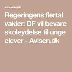 Regeringens flertal vakler: DF vil bevare skoleydelse til unge elever - Avisen.dk
