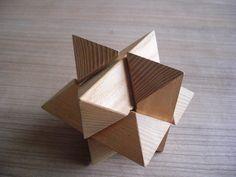 Houten puzzel ster..