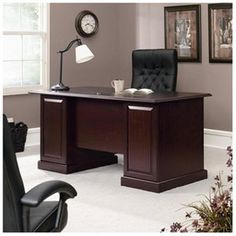 Heritage Hill Executive Desk in Classic Cherry 1 of 5  #UltrabookStyle