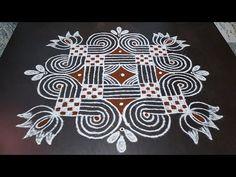 Easy Rangoli Designs Videos, Rangoli Designs Simple Diwali, Simple Rangoli Border Designs, Rangoli Simple, Small Rangoli Design, Rangoli Designs With Dots, Beautiful Rangoli Designs, Rangoli Designs Peacock, Indian Rangoli Designs