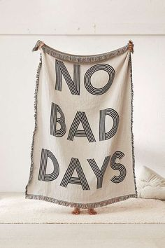 No Bad Days Woven Throw Blanket | Urban Outfitters | Home | Bedding | Duvet Covers & Throws