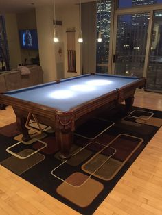 Gorgeous Cityscape With Brunswick Billiards Madison Pool Table Pro 8 Installation