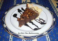Crostata cremosa al #cioccolato e #mandorle