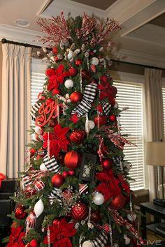 2017 christmas tree red black and white christmas tree raz imports raz