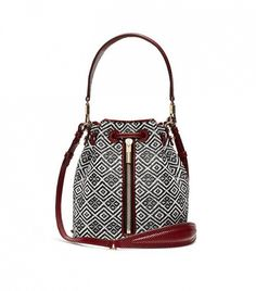 e8d73d54a304 Elizabeth and James Basketweave Mini Bucket Bag Shoulder Strap Bag