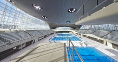 Zaha Hadid Architects, London Aquatics Centre, Olimpic Park, London #Olympics #architecture #pools