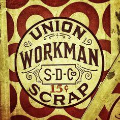 Union Workman Scrap Tobacco captured in the wilds of Delaware, Ohio.  typehunter vintagelabel