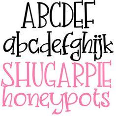 This adorable hand-written font has slab serifs throughout. Doodle Fonts, Doodle Lettering, Creative Lettering, Lettering Styles, Brush Lettering, Abc Font, Font Art, Hand Lettering Alphabet, Graffiti Alphabet