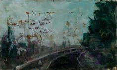 Tomáš Bambušek | Malíři jedou na plenér...,200x118cm, olej na plátně, 2012. Miličín, Česká sibiř #madeinBUBEC
