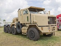 OSHKOSH, WI - JULY 27:  Front view of an Oshkosh Corp Army Truck vehicle as used in the military on display the 2012 AirVenture at EAA on July 27, 2012 in Oshkosh, Wisconsin. Stock Photo