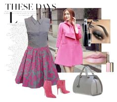 """""""Just Pink!"""" by paperdollsq ❤ liked on Polyvore featuring Sherbo, MPJ, Chanel, Gucci, Urban Decay, Lancôme and Clarins"""