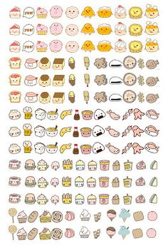 DIY Hand drawn [Japanese Food] Printable Planner Stickers Filofax/Kikki. K/Erin Condren Life Planner by SesameSticker on Etsy