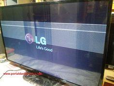 Televisor LED LG 50LN5400, faixas horizontais na tela.