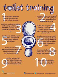 Bagaimana langkah toilet training? #poster #parenting >>