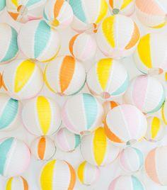 colorful beach balls
