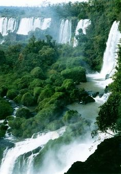 Puerto Iguazú, Argentina - One of the most amazing pictures I have ever seen! I can't even imagine how breathe taking it would be in reality.