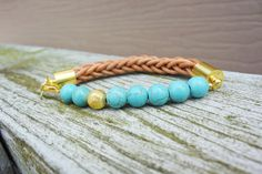 The Ellie Bracelet in turquoise Available on www.thatssofletch.storenvy.com