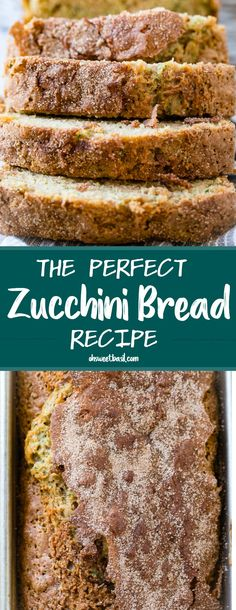 The Perfect Zucchini Bread Recipe - Oh Sweet Basil The Perfect Zucchini Bread Recipe. I hated zucchini bread when I was little. I searched for years for a recipe I'd love as an adult and can honestly say this is The Perfect Zucchini Bread Recipe. Zucchini Bread Muffins, Gluten Free Zucchini Bread, Zucchini Chips, Zucchini Bread Recipes, Recipe Zucchini, Zuchinni Bread, Zucchini Desserts, Garlic Bread, Köstliche Desserts