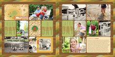 Digital Project Life 2013 : Week Twenty-Seven - camping themed digital project life page