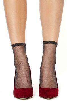 Metallic Midnight Ankle Socks