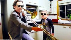 My favorite thing is he's playing trombone