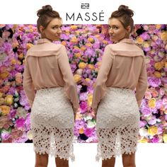 We love this shot! Our model is wearing our Riveted Shirt and Fresh as Daisy Skirt. Get the complete look for $128 now www.masse.com.au Daisy, Sequin Skirt, Sequins, Fresh, Store, Skirts, Model, How To Wear, Fashion