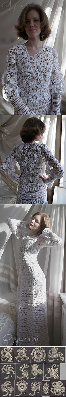 Indescribable beauty ... Irish Lace - Dress & quot; LEBЁDUSHKA & quot;