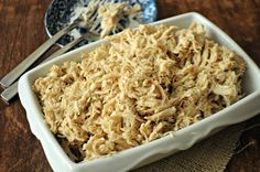All-Purpose Slow Cooker Shredded Chicken-make shredded chicken in the crockpot to be used in recipes that call for cooked chicken.  Includes directions for freezing portions as well.  www.mountainmamacooks.com