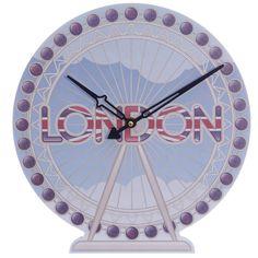 London Eye Shaped Picture Clock #clock #LondonEye #LondonIcons #giftware