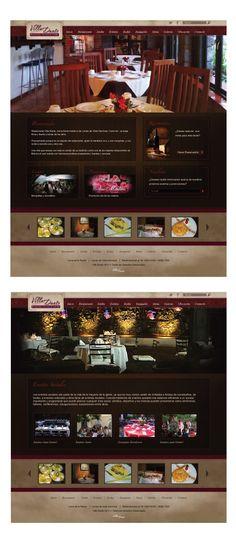 Diseño web para el restaurante Villa Dante