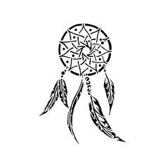 Pochoir Tatouage Attrape-Rêve 2 Taille moyenne